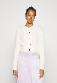 Monki - PAMELA CARDIGAN - Cardigan - white light cable - 0