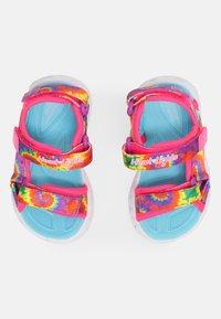 Skechers - HEART LIGHTS  - Sandaler - hot pink/blue - 3