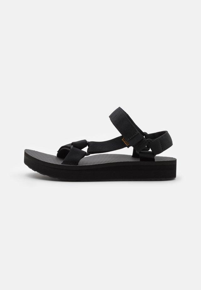 MID UNIVERSAL - Walking sandals - black
