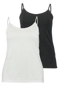 Zalando Essentials Curvy - 2 PACK - Top - black/white - 0
