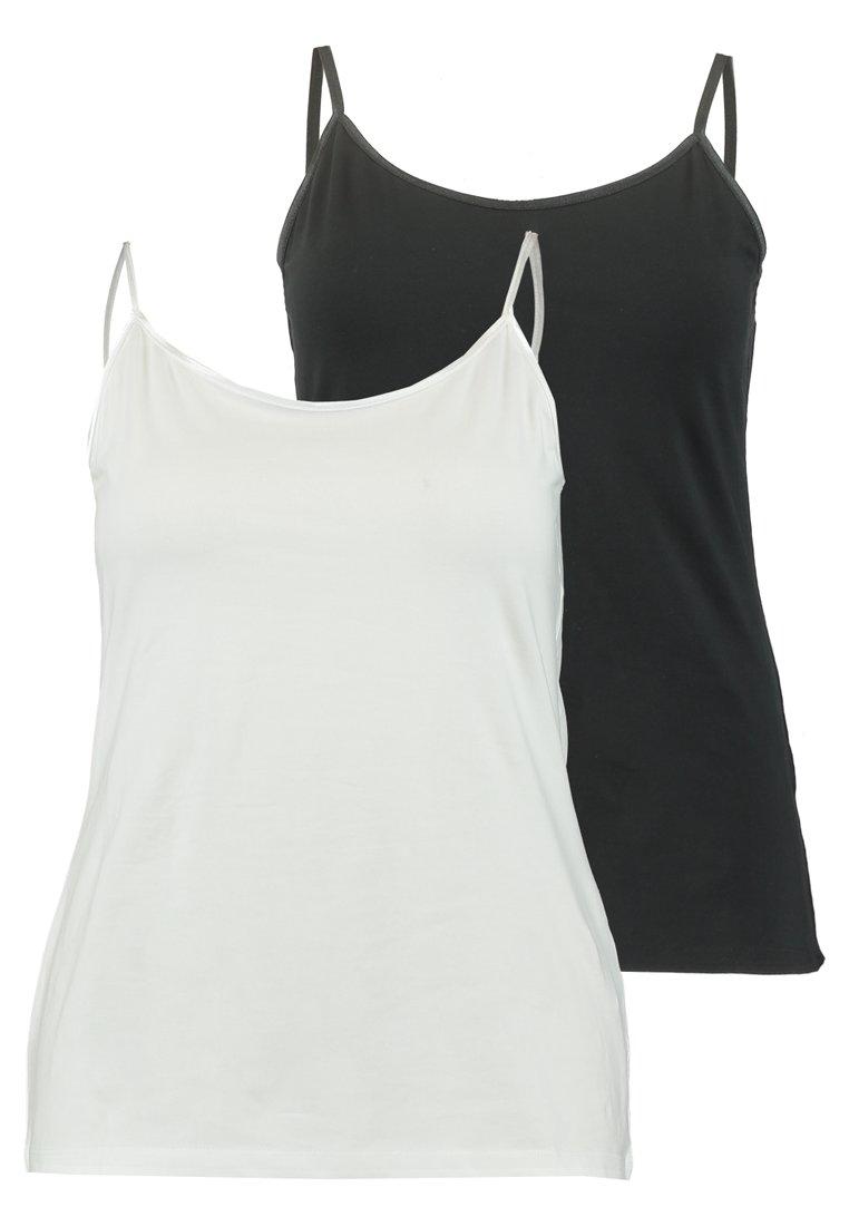 Zalando Essentials Curvy - 2 PACK - Top - black/white