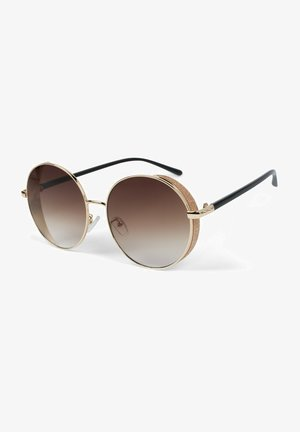 Sunglasses - gestell gold / glas braun