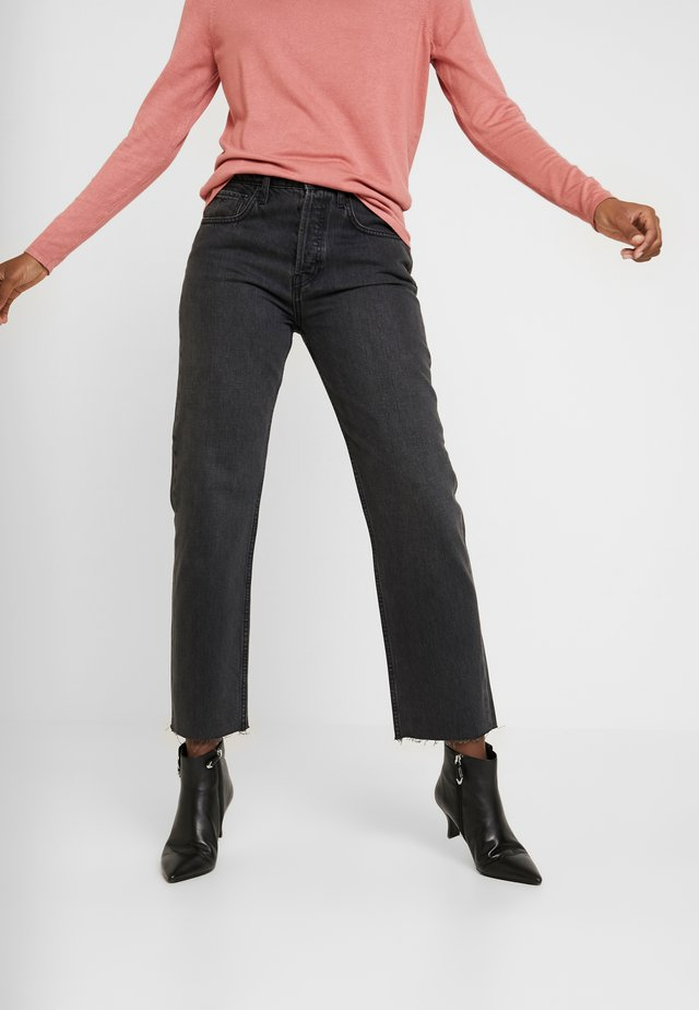MADISON - Straight leg jeans - washed black