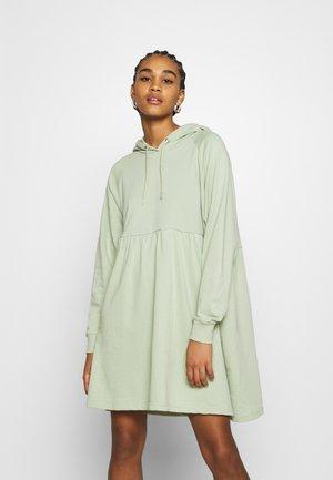 MALIN HOODIE DRESS - Day dress - green dusty light