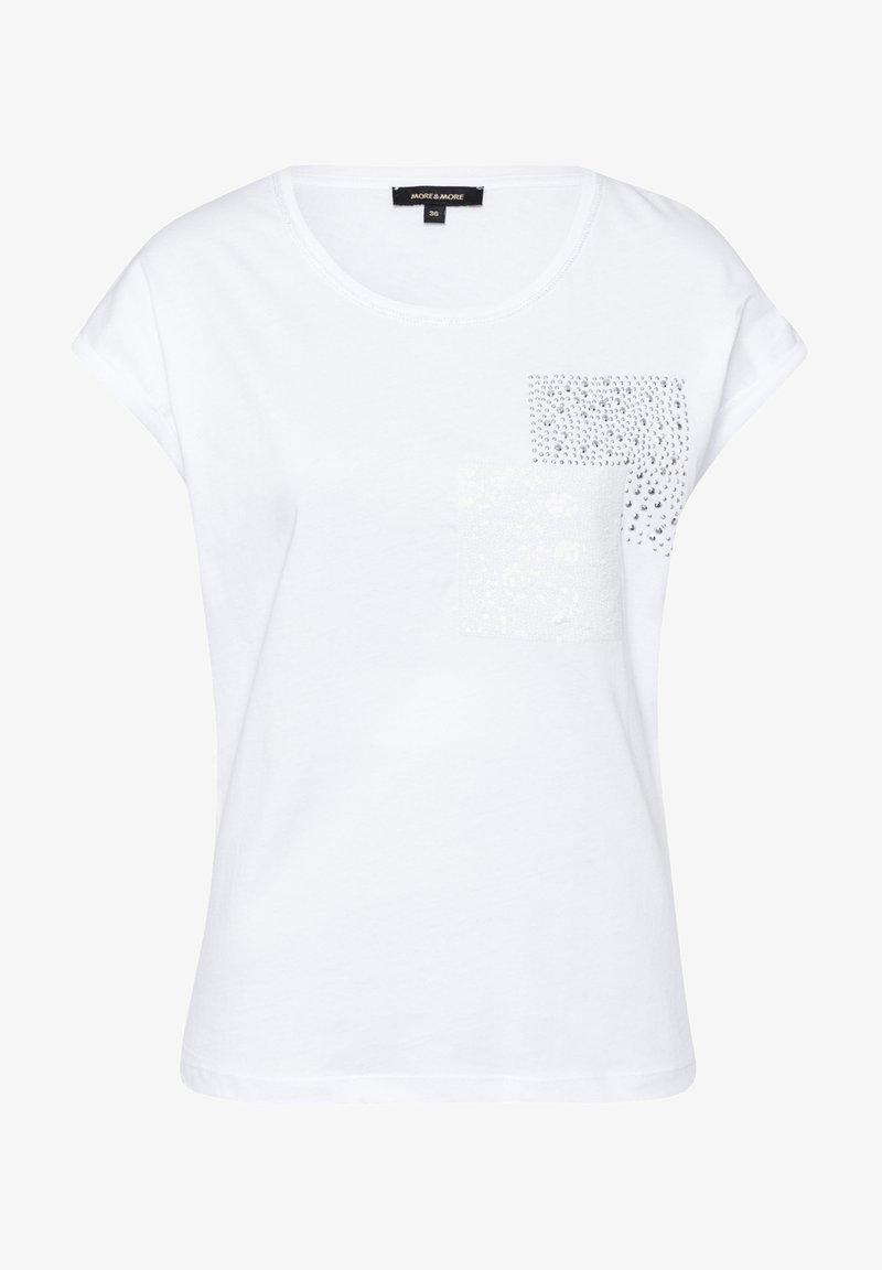 More & More - Print T-shirt - white