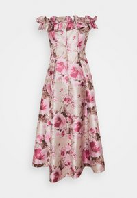Adrianna Papell - FLORAL HI LOW GOWN - Cocktail dress / Party dress - silver/blush - 1
