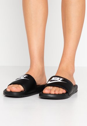 BENASSI JDI - Ciabattine - black/white