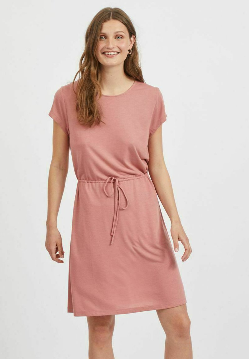 Vila - VIMOONEY STRING - Jersey dress - old rose