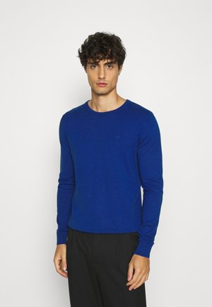BASIC CREW NECK - Jersey de punto - bright blue melange