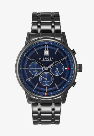 CASUAL - Chronograph - black/blue