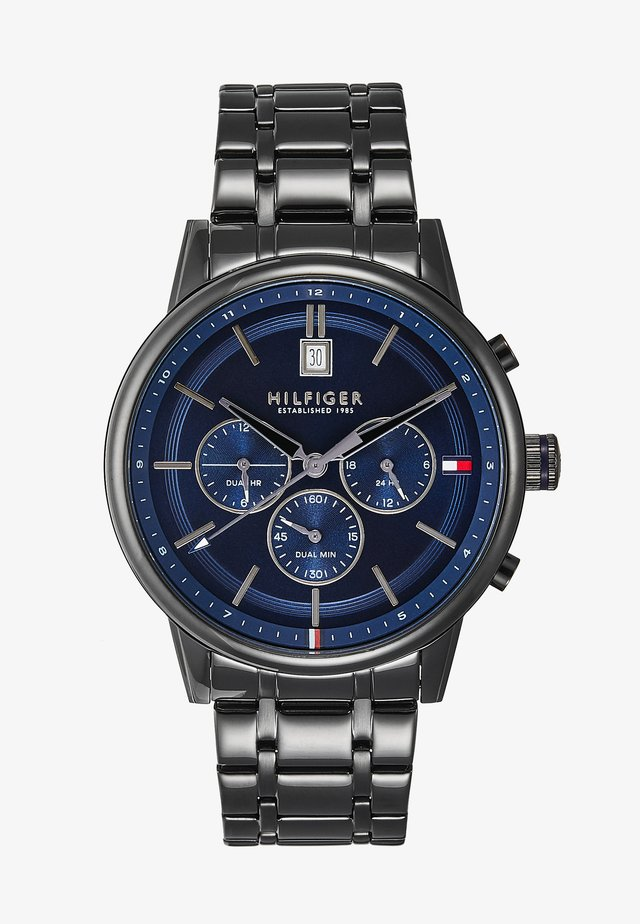 CASUAL - Chronograph watch - black/blue