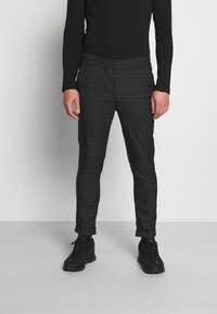 Kronstadt - JIM PINSTRIPE CHECK - Trousers - navy - 0