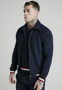 SIKSILK - INVERSE HIGH NECK - Sweater - navy/red/white - 0