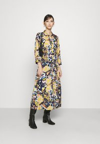 Pieces - PCROSITA 3/4 MIDI DRESS - Shirt dress - navy blazer/misty rose - 1