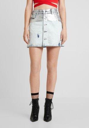 DE-JODY-R SKIRT - A-line skirt - silver/indigo