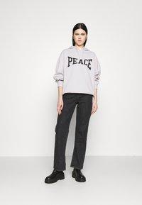 Topshop - PEACE HOODY - Sweatshirt - grey - 1