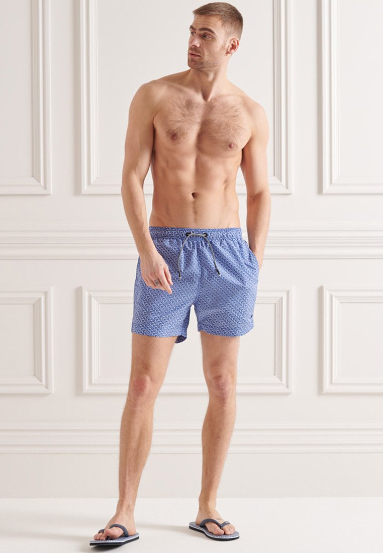 Superdry - STUDIOS - Swimming shorts - wavy line cobalt
