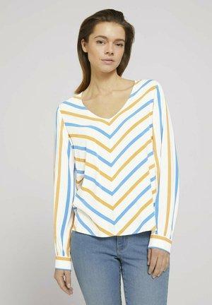 Blouse - beige geometrical design