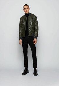 BOSS - JECEY - Leather jacket - open green - 1