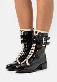 Kurt Geiger London - SERENA - Lace-up ankle boots - black - 0