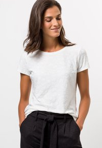 zero - MIT STRUKTUR - Print T-shirt - offwhite - 0