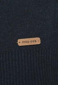 Pier One - Stickad tröja - mottled dark blue - 5