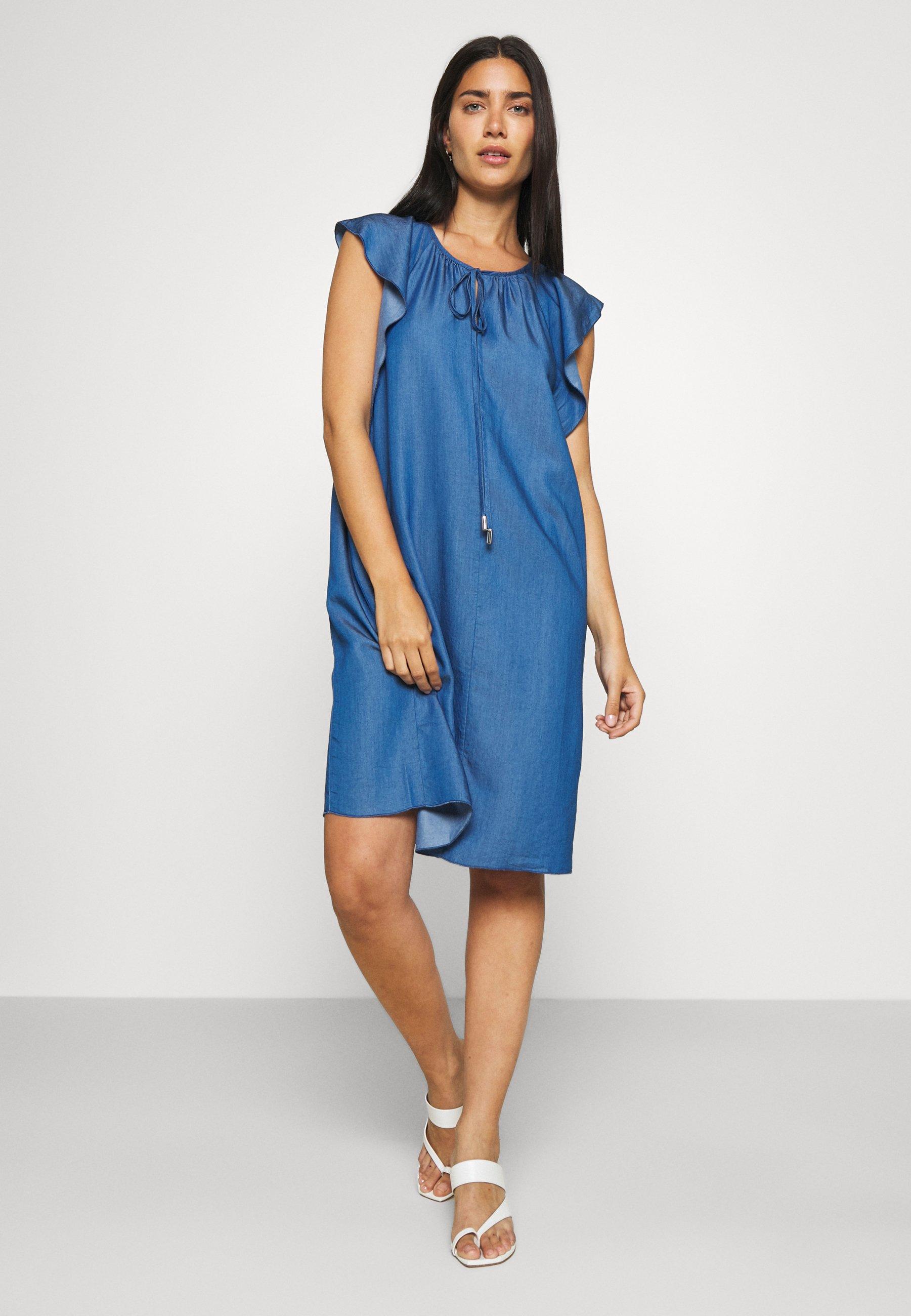Femme FLOATER SLEEVES DRESS - Robe en jean