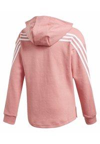 adidas Performance - 3-STRIPES FULL-ZIP HOODIE - Zip-up hoodie - pink - 1