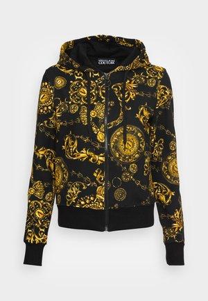 Zip-up sweatshirt - black/gold