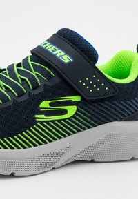 Skechers - MICROSPEC - Trainers - navy/lime/blue - 5