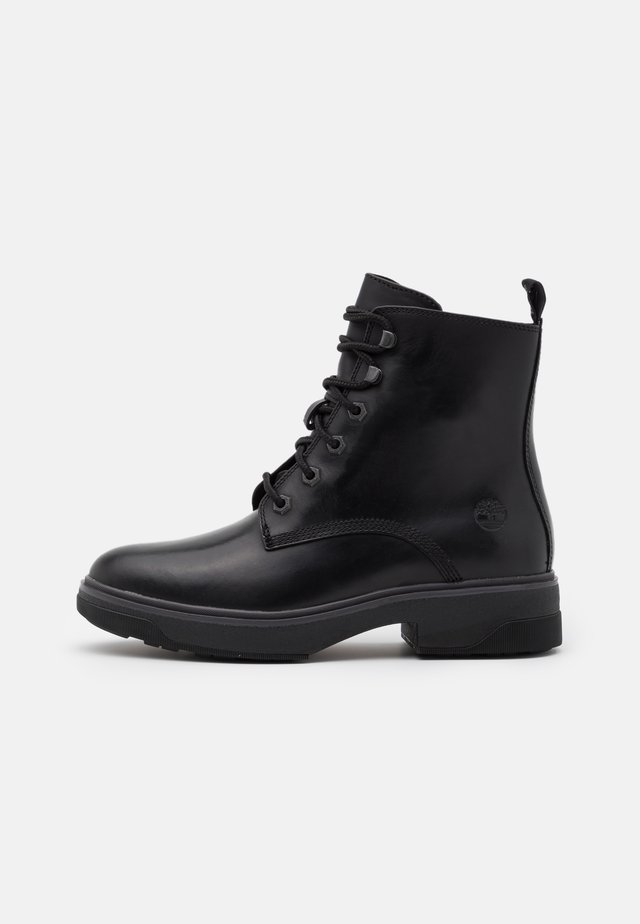 NOLITA SKY LACE UP - Enkellaarsjes met plateauzool - black