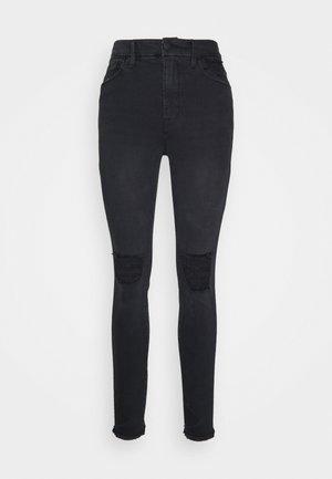 WAIST PRINTED POCKET BAGS - Jeans Skinny Fit - black