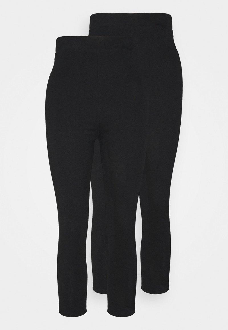 Even&Odd Tall - 2 PACK  - Leggings - Trousers - black