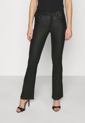 PCROXY FLARED COATED PANT - Trousers - black
