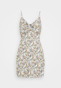 Abercrombie & Fitch - CHASE TWIST FRONT SHORT SLIP - Day dress - white - 4