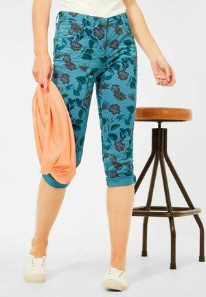 CASUAL FIT - Denim shorts - türkis