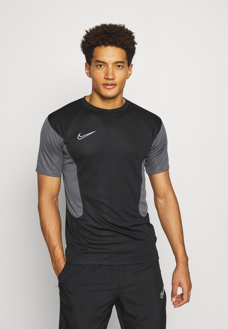 Nike Performance - DRY ACADEMY - Print T-shirt - black/iron grey/white