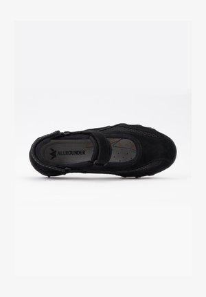 Ankle strap ballet pumps - black/black