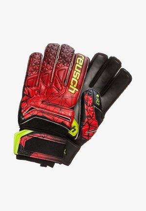 Goalkeeping gloves - black/fire red