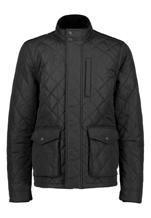 KHAKI SHOWER RESISTANT DIAMOND QUILT JACKET - Giacca invernale - black