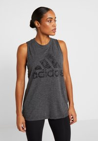 adidas Performance - WINNERS TANK - Topper - black melange - 0