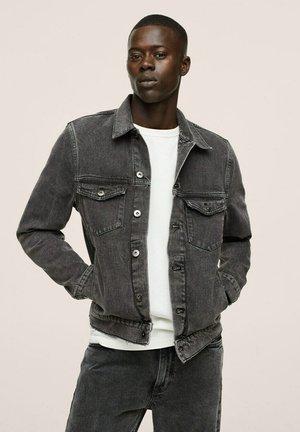 Denim jacket - open grijs