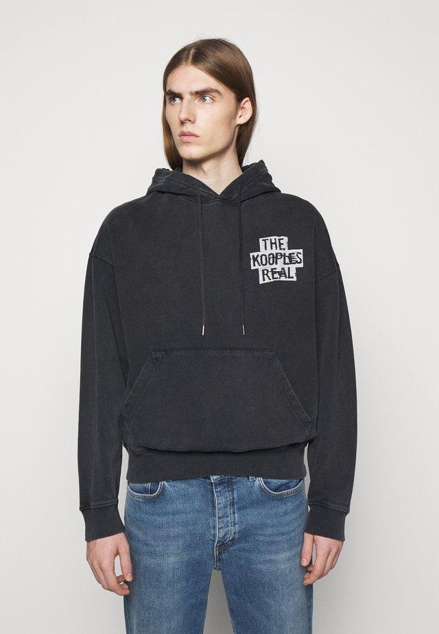 Hættetrøjer - black washed
