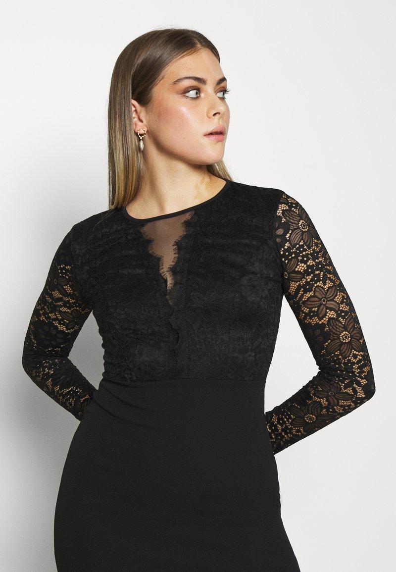 analia long sleeve midi dress - cocktailkleid/festliches kleid - black