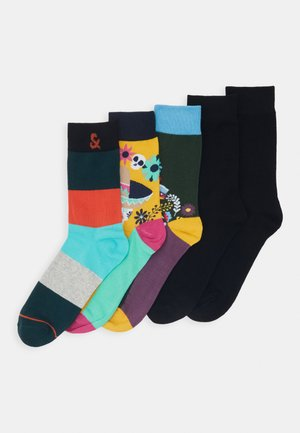 JACMEXICO STRIP SOCK 5 PACK - Strumpor - black