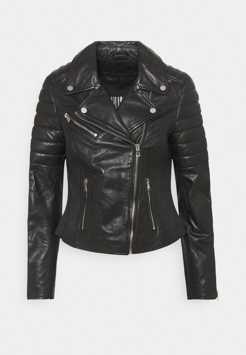 Freaky Nation - COOL BIKER - Leather jacket - black