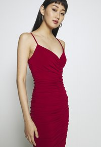 WAL G. - RUCHED STRAPPY DRESS - Cocktailkjole - red - 3