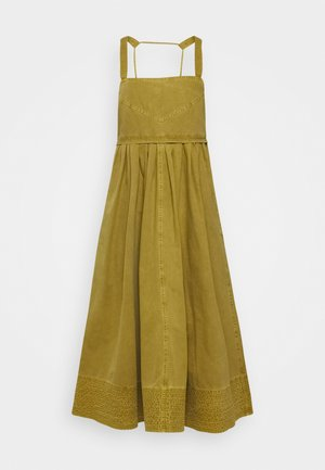 WASHED APRON DRESS - Korte jurk - moss