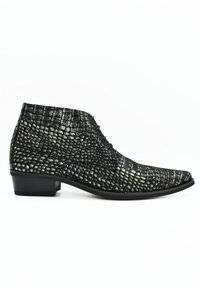 Fertini - Lace-up ankle boots - black croco - 3