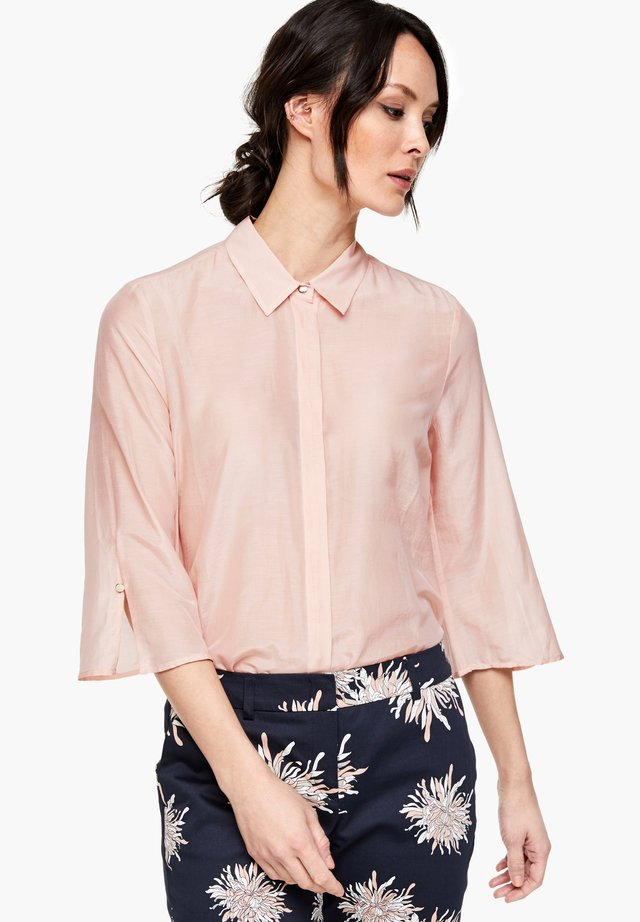 Button-down blouse - dusty rose